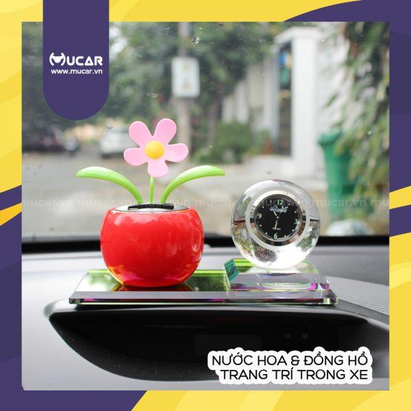 Nuoc Hoa Dong Ho Trang Tri Trong Xe